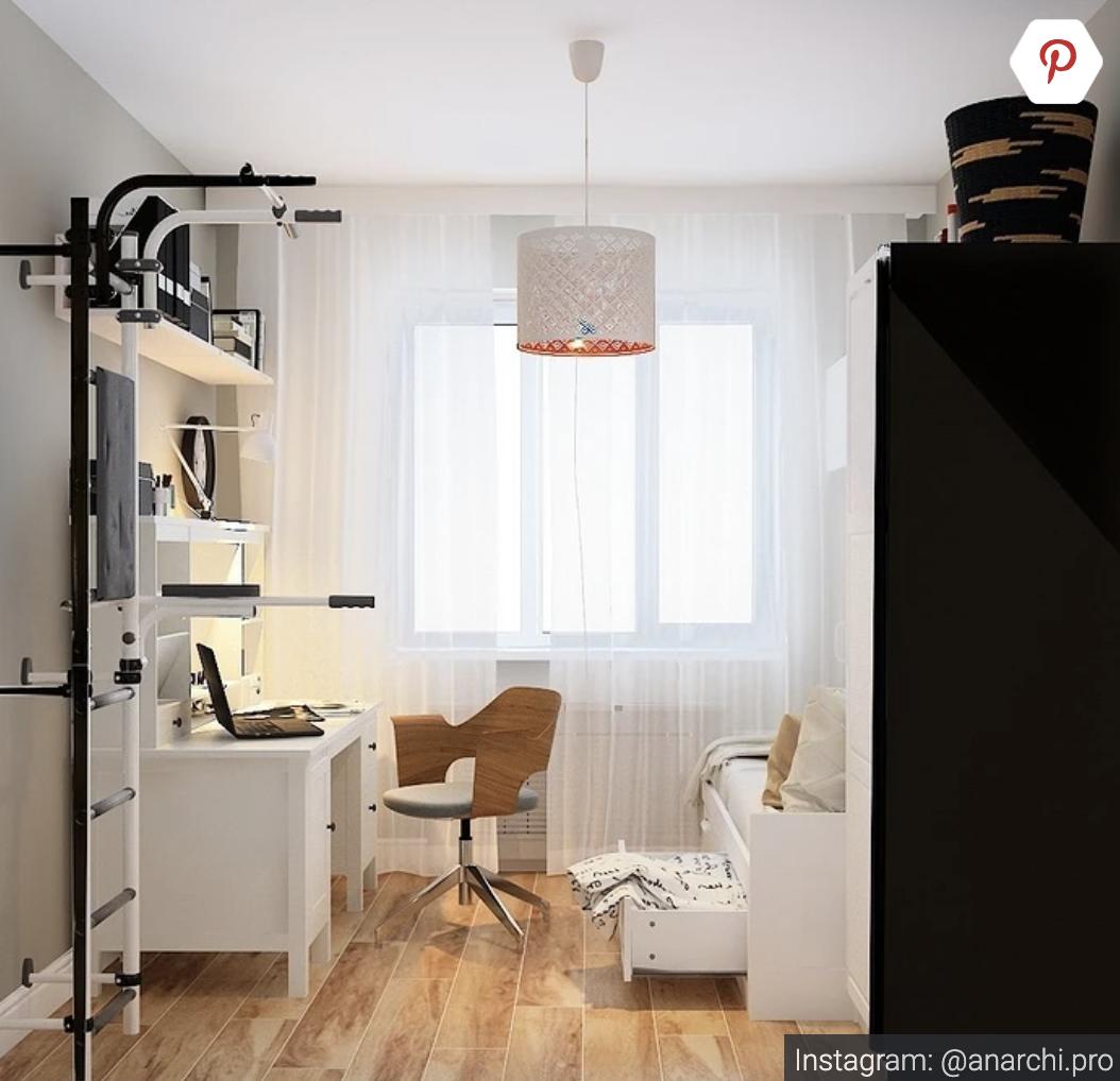 Создаем интерьер комнаты общежития для одного или двух студентов